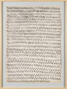 Mark-making: now in Rome at the fondazione giuliani » Giorgio Griffa: Works on Paper