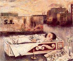 Niña muerta. 1957. Obra de Antonio López García