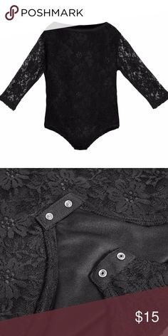 ❤️ Boutique - Lace Longsleeve Bodysuit This is one of our hottest selling products, and you know why. The cutest lace suit that is one of a kind WITHOUT any itch. Order one for you and friend. Have fun dressing up your baby! We used the best sourced material and design and manufacture in Los Angeles.  Ready to order yours today?  FEATURES:  Made in USA 97% Polyester, 3% Spandex Snap Button Bottom Kura Baby Shirts & Tops Tees - Long Sleeve