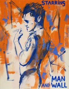 Sef Berkers. STARRING paintings. Man and Wall. 2020, 90 x 70 cm / 35.5 x 27.5 in. Oil on canvas, $ 1,390.00 Star Painting, Film Images, Human Condition, Film Posters, Oil On Canvas, Paintings, Stars, Wall, Inspiration