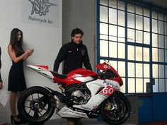 mv agusta f3 in the world supersport championship with mv agusta