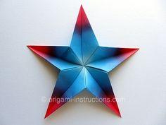 Modular 5-pointed Star #origami #favorite