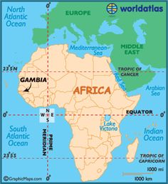 Locator Map of Gambia