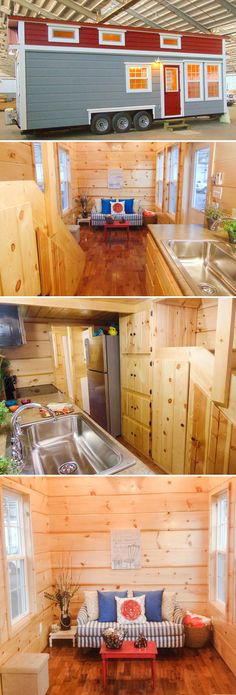 French Quarter is a 28′ custom tiny house designed by the homeowner and built by Incredible Tiny Homes in Morristown, Tennessee. Full dormers give the tiny house maximum height, including 50″+ of headroom in the bedroom loft.