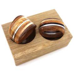 www.timberring.nl Houten trouwringen met zilver