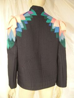 80's Quilted Wearable Art Jacket | From a collection of rare vintage coats and outerwear at https://www.1stdibs.com/fashion/clothing/coats-outerwear/