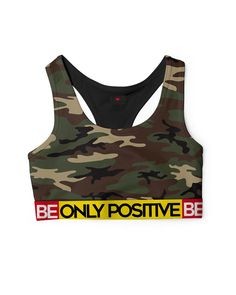 BE ONLY POSITIVE CAMO Sports Bra