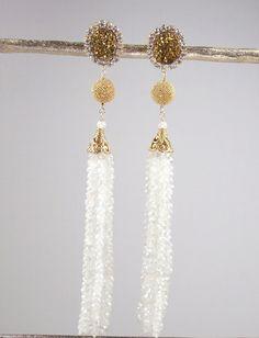 Wedding Jewelry Bridal Earrings Moonstone by DoolittleJewelry, $295.00