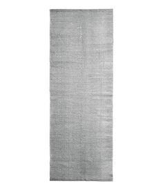 Mönstrad bomullsmatta | Grå | Home | H&M SE