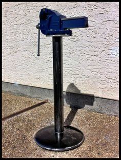 How do you mount your bench vise at garage? - The Garage Journal Board