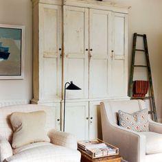 storage with slim profile... love the ladder