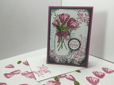 Ophelia Crafts a card with Bunch of Blossoms in a Jar