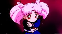 Chibiusa in the SailorMoonR OP (to be honest, R/BlackMoon was my LEAST favourite arc. I only liked it because of Chibiusa).