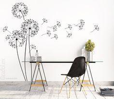 Wandtattoo Pusteblume Löwenzahn Blume Wandaufkleber Wand Sticker Design w317a