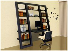 sloping desk and chair