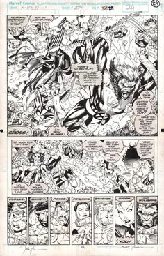 X-MEN #274 PAGE 29 WOLVERINE HALF SPLASH ( 1991, JIM LEE ) Comic Art