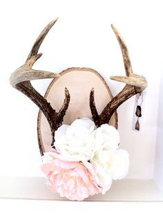 Image result for deer antlers floral