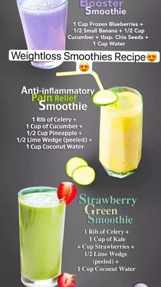 Weight Loss Smoothie Recipes, Fruit Smoothie Recipes, Weight Loss Drinks, Smoothie Diet, Drinks To Burn Fat, Chia Seed Recipes For Weight Loss, Flat Belly Smoothie, Turmeric Smoothie, Nutribullet Recipes