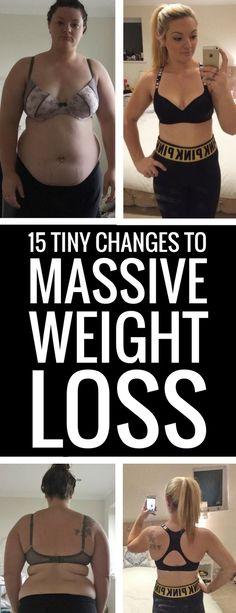 You only need to make some small changes in your life to lose lots of weight.