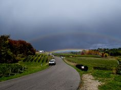 Double #Rainbow w/ one on the ground! Shot w/ the #Olympus #TOUGH TG-1 iHS in Northern Michigan's wine country. #ChateauChantel