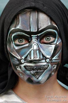 Darth Vader (Star Wars). Face paint by Tanya Maslova.