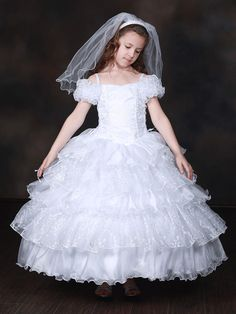 Off shoulder Exquisite Holy Communion Dress