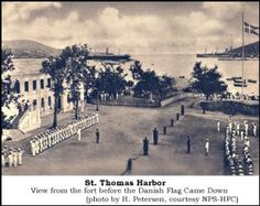 MARCH 31, 1917: Danish West Indies transferrred to US, which paid Denmark $25 million for them. The island became the US Virgin Islands photo: Danish West Indies Transfer Ceremonies on St. Thomas, VI Denmark Europe, Danish Flag, Harbor View, Today In History, Us Virgin Islands, St Thomas, West Indies, Vacation Destinations, Black History