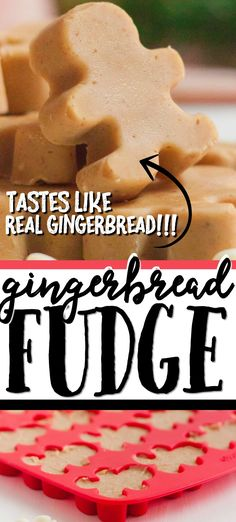 This easy, homemade gingerbread fudge is a delish holiday treat that is quick and simple to make from scratch. Easy Christmas Treats, Christmas Fudge, Christmas Sweets, Christmas Cooking, Christmas Foods, Christmas Ideas, Köstliche Desserts, Holiday Desserts, Holiday Baking