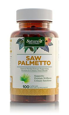 Saw Palmetto Berry   Extract by Nature's Wellness, 100-Count | Max Strength 500 mg Capsules Support Prostate Health, Urinary Health, Slow Hair Loss w/ All-Natural DHT Blockers, Improved Dietary Health -- Check this awesome product by going to the link at the image.