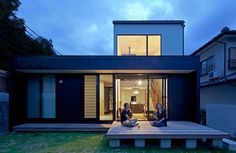 Compact Wooden Home With Japanese Details For Young Couples - http://freshome.com/2012/10/25/compact-wooden-home-with-japanese-details-for-young-couples/