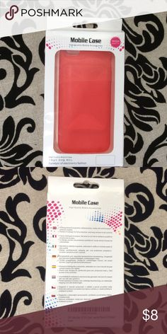 Mobile case iPhone 5/5S This is a new, still in original box, Mobile Case iPhone 5/5S case in red. Fast shipping from a smoke free home. Offers and questions welcome. Thank you for looking. Mobile Case Accessories Phone Cases