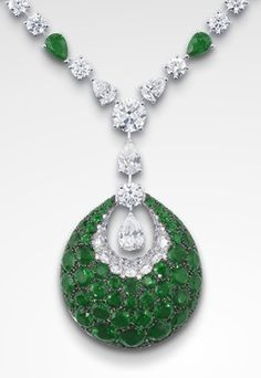 H & D Diamonds is your direct contact to diamond trade suppliers, a Bond Street jeweller and a team of designers.www.handddiamonds... Tel: 0845 600 5557 - GRAFF Emerald Bombè Necklace