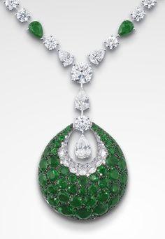 Emeralds & diamonds GRAFF Emerald Bombè Necklace