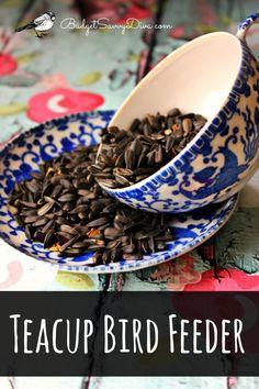 How To Make A Teacup Bird Feeder #craft #diy #budgetsavvydiva #birdfeeder #teacups via budgetsavvydiva.com