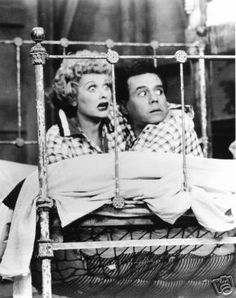 On the way to California, the Ricardos & Mertzes spend the night in a cottage where the passing trains move the bed. I Love Lucy