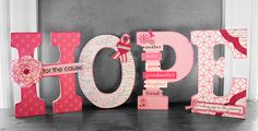 breast cancer decorations ideas | Alice Golden | Therm O Web Adhesives & Interfacings