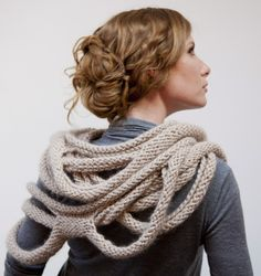 this might be the stunner that I have been looking for. $6 pattern on Ravelry knitted statement knit scarf shawl design