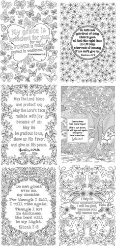 8 Printable Bible Verse Coloring Bookmarks Coloring