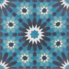 Moroccan Encaustic Cement Pattern Pre Sealed 23b