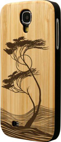 Fusion Series - Bamboo Case - Hurricane Design - for Samsung Galaxy S4