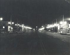 Logan Library - Historic Photo Collection: Logan's Main Street at Night. Date: about 1960. Address: 200 North Main Logan, Utah.