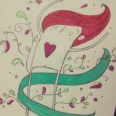 { Rotina e Rabisco } - Apaixonar-se. #ilustrandosentimento  #rotinadeamor #ilustração