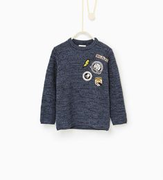 Patch sweater-SWEATERS AND CARDIGANS-BOY | 4 - 14 years-KIDS | ZARA Hungary