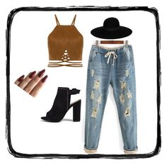 """""""boho style"""" by bellafawxo on Polyvore featuring Maison Michel, Boohoo, indie and boho"""