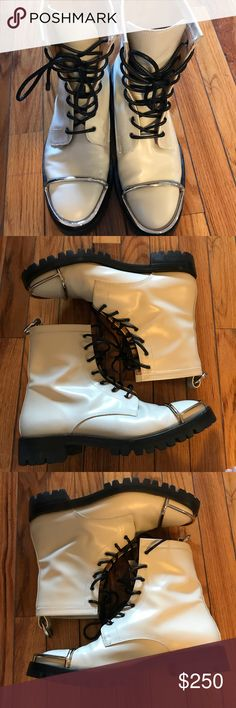 Alexander Wang Boots Alexander Wang Boots in excellent condition, as you can see, there is little to no wear on the soles. Please feel free to make any offers. No low balling please! Alexander Wang Shoes Combat & Moto Boots