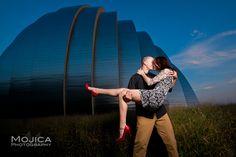 Nighttime engagement photo session, Kansas City Wedding Photography!