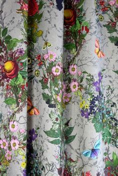 Bloomsbury Garden Fabric Due to production processes repeat sizes and widths may vary by upto Diy Projects Cans, Easy Diy Projects, Buy Pillows, Custom Pillows, Victorian Couch, Teal Living Rooms, Butterfly Pillow, Timorous Beasties, Diy Pillow Covers
