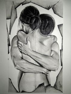 "Saatchi Online Artist: Surajit Chatterjee; Charcoal 2012 Drawing ""Love"" ♥♥♥"