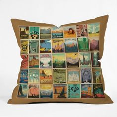 DENY Designs Anderson Design Group City Pattern Border Throw Pillow 26 x 26 -- Click image for more details.