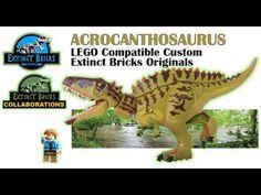 ACROCANTHOSAURUS LEGO DINOSAUR CUSTOM - #LEGODINOSAURS #LEGO #JURASSICWORLD #ACROCANTHOSAURUS - YouTube Lego Jurassic Park, Jurassic Park World, Legos, Lego Dinosaur, Artwork For Home, Cool Lego Creations, Lego House, Lego Super Heroes, Lego Stuff